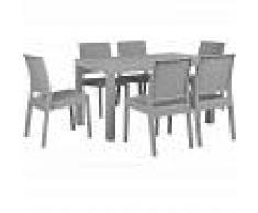 BELIANI Conjunto de jardín gris claro para 6 personas FOSSANO - BELIANI