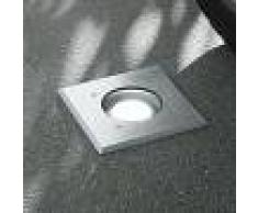 LAMPENWELT Foco de suelo LED empotrado Kari, angular - LAMPENWELT