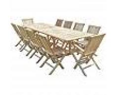 C&L JARDIN Conjunto de jardín de teca BATAN 8 sillas y 2 sillones - C&L JARDIN