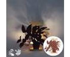 QAZQA Diseño Lámpara de mesa orgánica rojo con beige LED - SILHOUETTES
