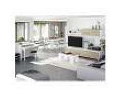 HD DECO Conjunto Salón Moderno, Escritorio con Mueble salon + Estante con Mesa
