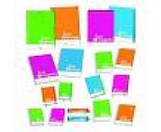 Dohe Carpeta con gomas y solapas Formato Folio colores surtidos fluorescentes