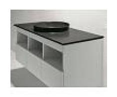 Nic Lavabo de suelo integrado 120 cm blanco brillante en cerámica