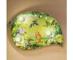 Elobra Lámpara de techo infantil Jungla, efectos luz LED