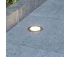 LUCANDE Foco de suelo LED empotrado Doris redondo, acero