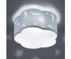 Trio Lighting Lámpara de techo Moony infantil azul pastel