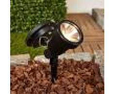 Lampenwelt.com Reflector LED solar Eddie con pica de tierra