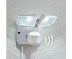 Lampenwelt.com Foco solar LED Ignaz, 2 llamas, blanco