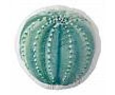 DECOLORES Cojín Con Forma Sonora - 100% Algodón Orgánico - Blanco Y Verde - 60 x 61 cm