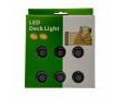 Barcelona LED Kit 6 focos LED empotrables en suelo 0,3W 12V-DC IP67