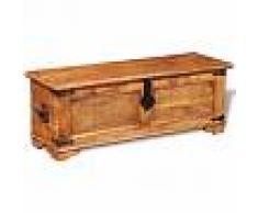 Vida XL Baúl de almacenamiento de madera de mango rugosa