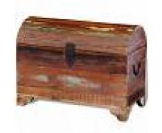 Vida XL Baúl de almacenamiento de madera reciclada maciza