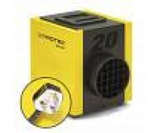 Trotec Calentador eléctrico TEH 20 T con enchufe británico (tipo G, UK de 3 polos)