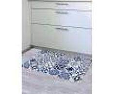 Venca Hogar Alfombra decorativa cocina efecto baldosas azul