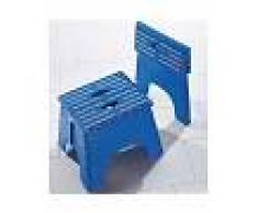 Venca Hogar Taburete plegable con asas antideslizante azul 000