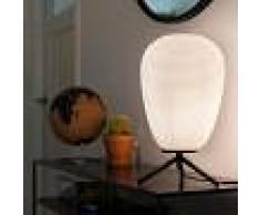 QAZQA Lámpara de mesa de diseño cristal negro 24 cm con cristal opal - Hero