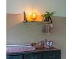 QAZQA Lámpara de mesa latón con vidrio rosa - PALLON