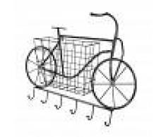 Maisons du Monde Almacenaje de pared bicicleta cesta y ganchos de metal