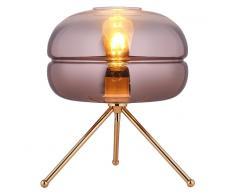 Lámpara de mesa gradiente oro, 29x35 cm