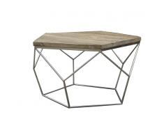 Mesa de centro de madera, Ø80x42 cm