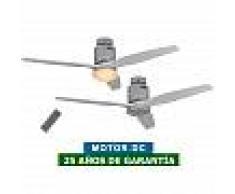 CasaFan Ventilador De Techo Con Luz Casafan 93132312 Aerodynamix Eco 132 Gris Claro/ Cromo Brillante