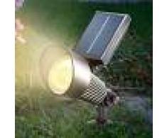 Esotec Foco LED solar Spotlight con luz RGB, negro