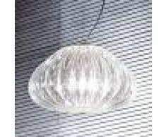 Vistosi Lámpara colgante Diamante, cristal Ø 30 cm