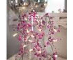 Best Season Cadena de luces LED rosa Pärla Garland