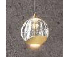 Lucande Lámpara colgante LED Hayley cristal, 1 luz, dorado