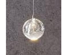 Lucande Lámpara colgante LED Hayley cristal, 1 luz, cromo