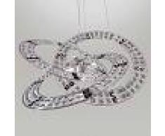 Marchetti Lámpara colgante de cristal Trilogy 6 luces negro
