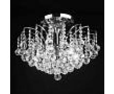 Orion LENNARDA - Lámpara techo de cristal, transp./cromo