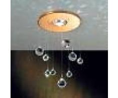 Orion Lámpara empotrada Feng Shui, piezas Swarovski, oro
