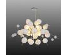 Näve Lámpara colgante Explosión en blanco/cromo 98 cm