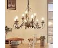 Lampenwelt.com Lámpara de araña Caleb con 9 luces, estilo rural