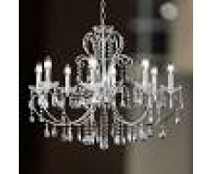 WOFI Lámpara de araña de cristal ARIZONA de 8 llamas