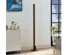 Lucande Lámpara de suelo LED Tamlin de madera, negro