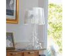 Kartell Lámpara de mesa LED de diseño Bourgie transparente