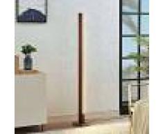 Lucande Lámpara de suelo LED Tamlin madera, marrón oscuro