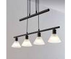 Lindby Lámpara colgante Delira 4 luces, negro, regulable