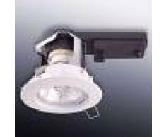 Heitronic Foco empotrable de techo, forma redonda, blanco