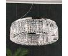 Orion Lámpara colgante de cristal Ring 80 cm cromo