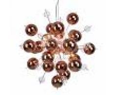 Näve Lámpara colgante Explosion con esferas en cobre