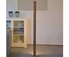 HerzBlut Lámpara de pie LED Leonora, nogal, atenuable 121cm