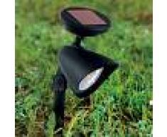 EGLO Foco LED solar de estaca Ludo negro