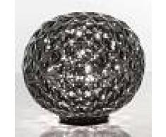 Kartell Lámpara de mesa LED Planet esférica, ahumado