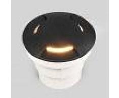 Fumagalli Lámpara empotrada LED de suelo negra Ceci 120-3L