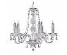 Searchlight Lámpara de araña de cristal de 5 brazos HALE
