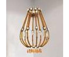 Masiero Lámpara colgante LED Raqam E marrón-naranja