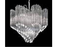 Novaresi Lámpara colgante de cristal Chiocciola